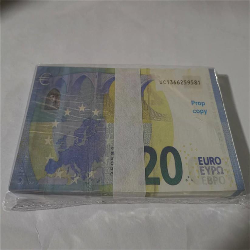 2020 Vente chaude Moderne Argent Euro 5/10/20/50 Copier de papier Banknote Popier argent euro 100pcs / pack 19