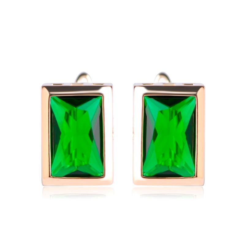 Boucles d'oreilles carrées élégantes Dazz Color Colique Cubic Zircon Boucles d'oreilles pour femmes et dames Piercing Cadeau Femme Brincos Anel Cadeau