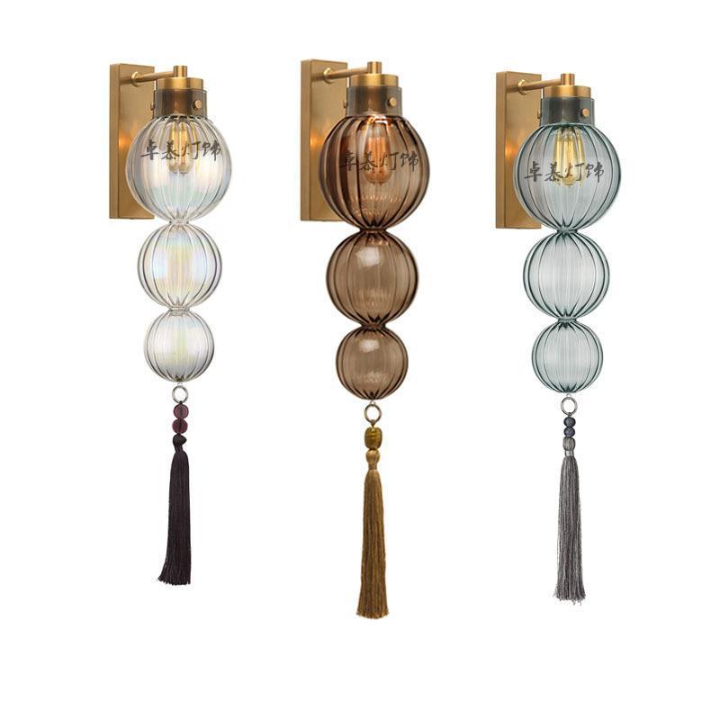 haute moderne lampe murale qualité verre corps lampe fer Abat or intérieur bougeoir LED E27 Lampe murale simple 220v nuit