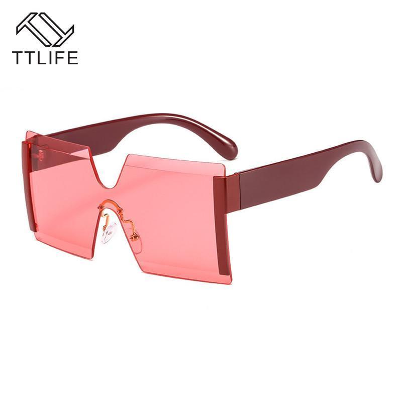 TTLIFE SOL SOLVE Солнцезащитные очки Красочные Очки Очки Окень Океан Очки Gafas Gafas Sun Top Ocean Gafas Женский Плоский Большой De Big TMFMI NCRWF