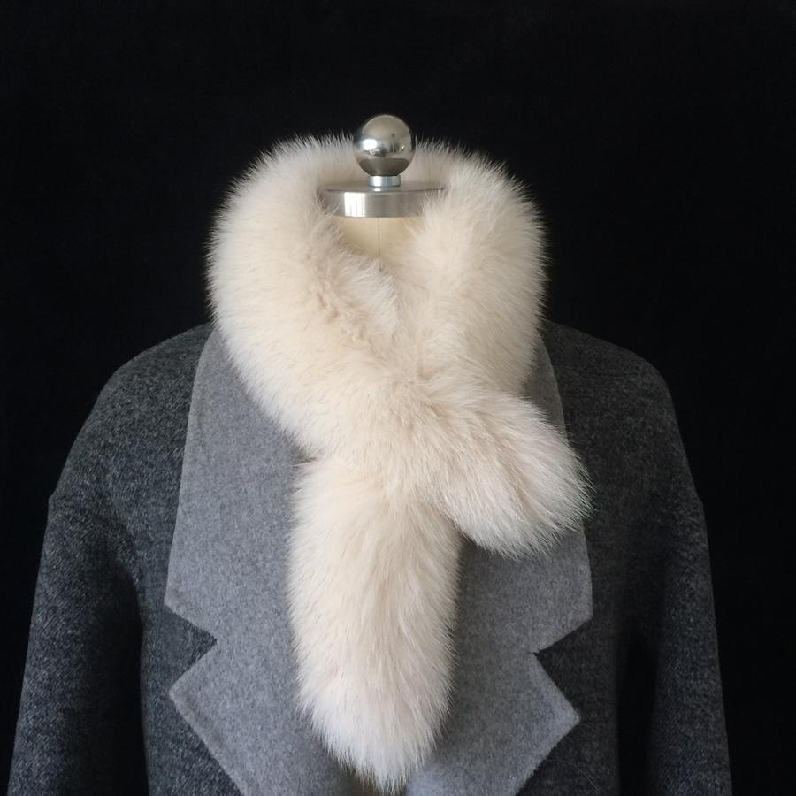 Перо пучок Фокс Сплошной цвет Двухсторонний шарф для женщин Осень и зима Новый Мех настоящая шерсть нагрудна