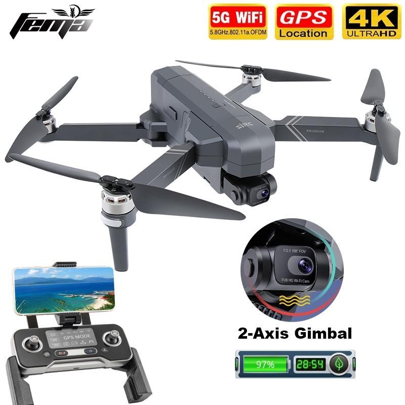 FEMA F11 4K PRO GPS-Drohnen 4K Videoprofessionell 5G FPV 2-Achsen Anti-Shake-Gimbal-Kamera-Quadkopter Drohne Brushless VS SG906 PRO2 201221