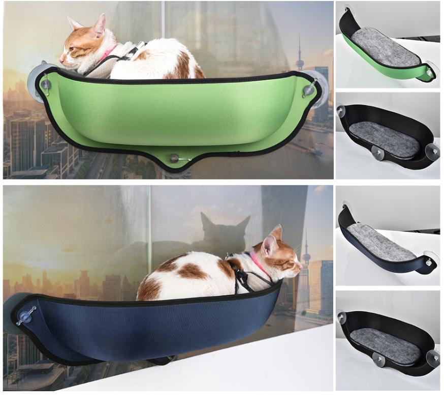 Kedi Yatak Mobilya Pencere Hamak Güçlü Vantuzlu Pet Kitty Asılı Uyku Yatak Rahat Sıcak Gelincik Kafes Raf Koltuğu