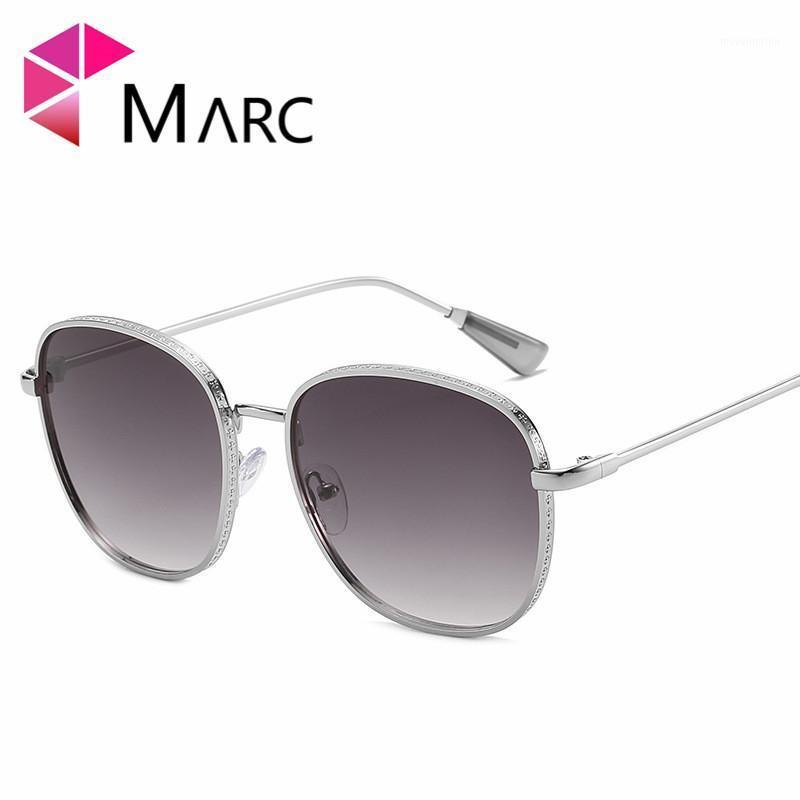 Marc 2020New Gafas de sol Hombres Marca vintage de moda Redondo Gafas de sol Gafas de metal Marco Gafas Mujeres UV400 Classic Gradient Glasses1