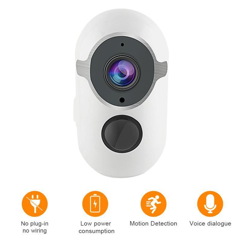 Nuevo Solor-Power Outdoor Wifi Cámara de seguridad Detección de movimiento Detección recargable Batería inalámbrica IP CAM 1080P WIFI Cámara IP