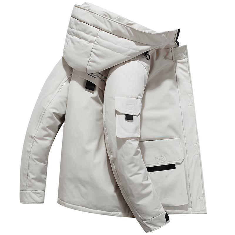 Veste pour homme Parka chaleureuse -30 degrés Hommes Casual Imperméable Down Winter Coat Taille 3XL