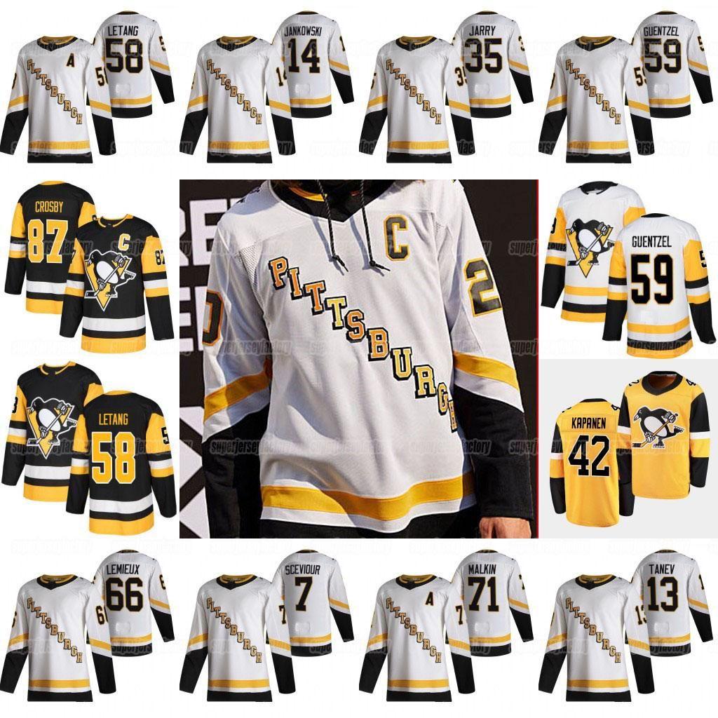 87 Sidney Crosby Pittsburgh Penguins 2021 Reverse Retro Jersey Jake Guentzel Kris Letang Kasperi Kapanen Tristan Jarry Malkin Varone Tanev