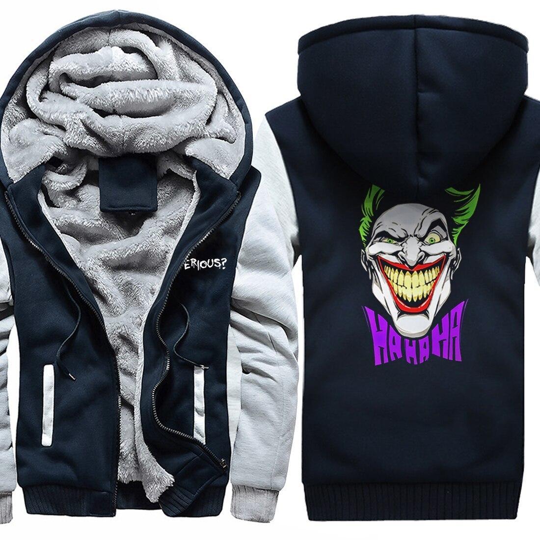 The Joker Print Pull en polaire Épaissement Manteau hiver Vestes chaudes Sweatshirts 2020 mode hip hop hodies succursuits