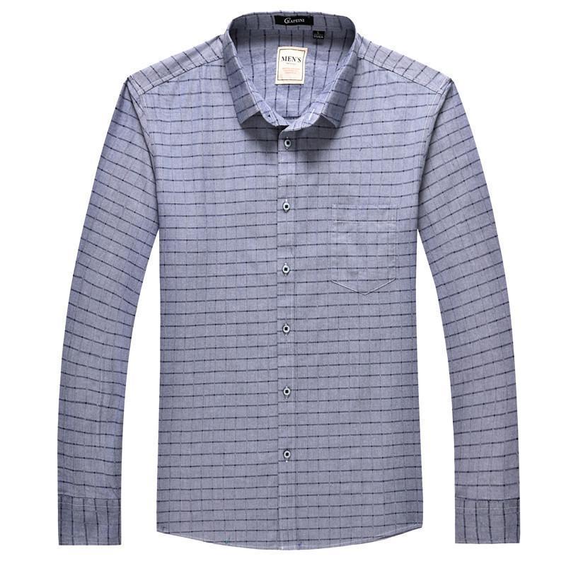 Camicie casual da uomo 8xL 6xl 5x Camicia a scacchi da uomo a quadri Brand Brand Fashion Down Manica lunga Plus Drop Drop