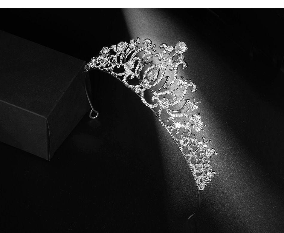 2021 جديد خمر الباروك الزفاف تياراس اكسسوارات حفلة موسيقية أغطية الرأس مذهلة بلورات شير الزفاف تياراس ووجود 1903