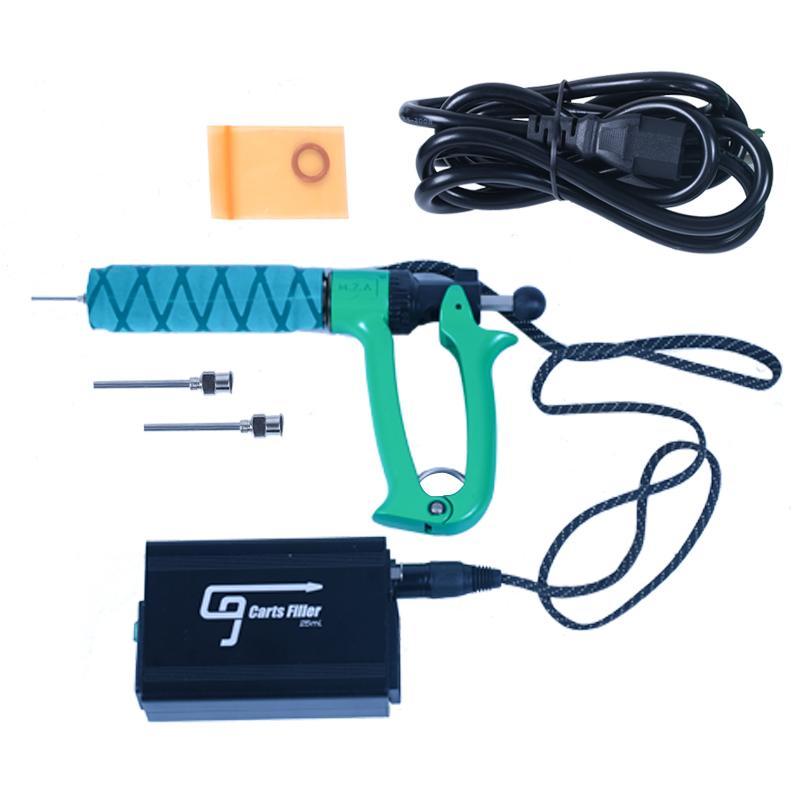100% sac original Greenlightvapes G9 Chariots Machine de remplissage semi-automatique Pistolet de remplissage d'injection pour 0.5ml 1 ml Vape épaisseur cartouche d'huile authentique