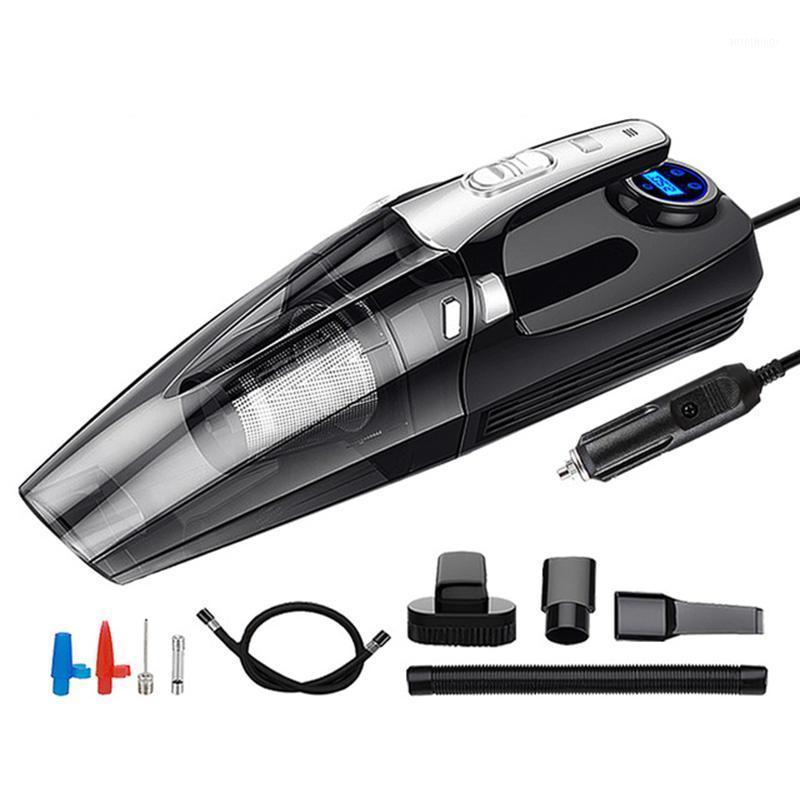 Пылесос 4 в 1 автомобиль портативный мокрый / сухой авто 12V 120W 4000mpa с умной цифровой шин инфлятор насос манометр светодиодный свет1