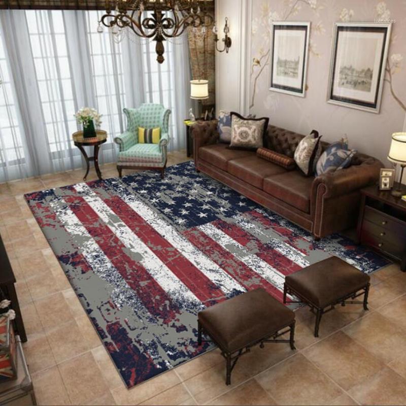 Американский стиль гостиной зоны коврики ретро классический декор домашнего декора ковров спальня тумбочка без скольжения коврик для пола кухонный прихожей DOOMTAT1