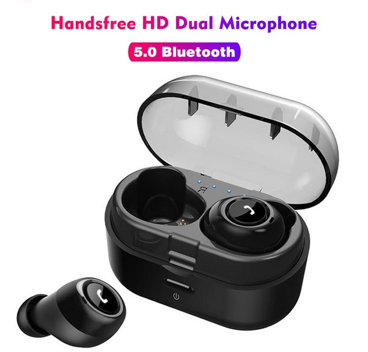 TWS Bluetooth 5.0 Earphones Twins Wireless Earbuds Colorful Headset Mic Stereo with Pop up window for All Smart phones