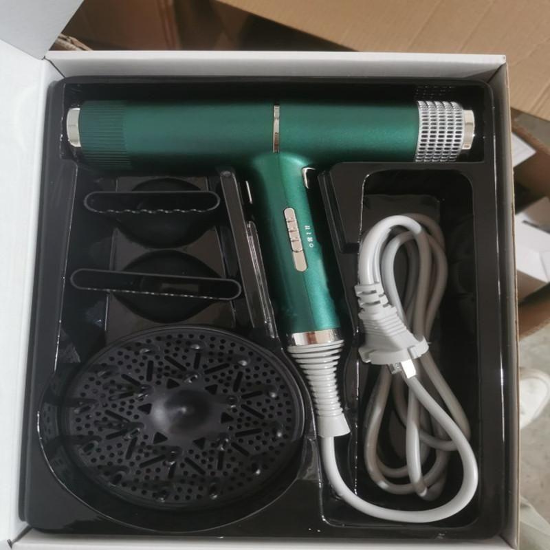 Pennelli per capelli elettrici 3 in 1 Professional Negative Ions Blow Asciugamano Potente Vento / Cold Salon Parrucchiere con funzione di memoria 50