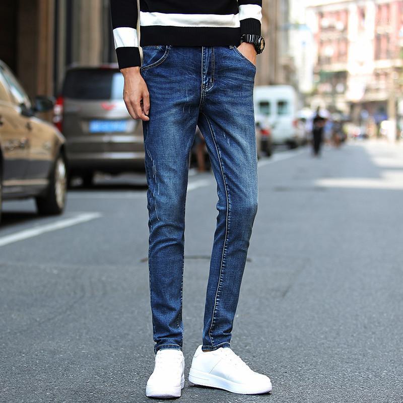 Herren Skinny Jeans Mode Gekratzt Slim Denim Jeans Qualität Männer Heißer Verkauf Casual Bleistift Hosen Männer Lange Biker Fabrik Preis1