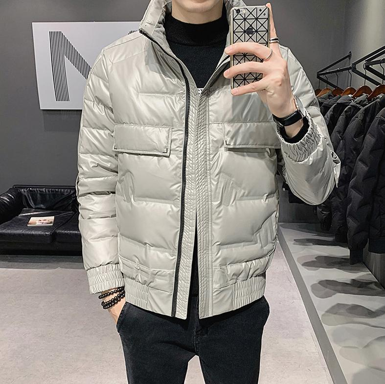 Casual Mens Down Jacket with Zipper 2020 New Arrival Winter Men Parkas Coat with Hooded High Quality Mens Down Coats Clothing