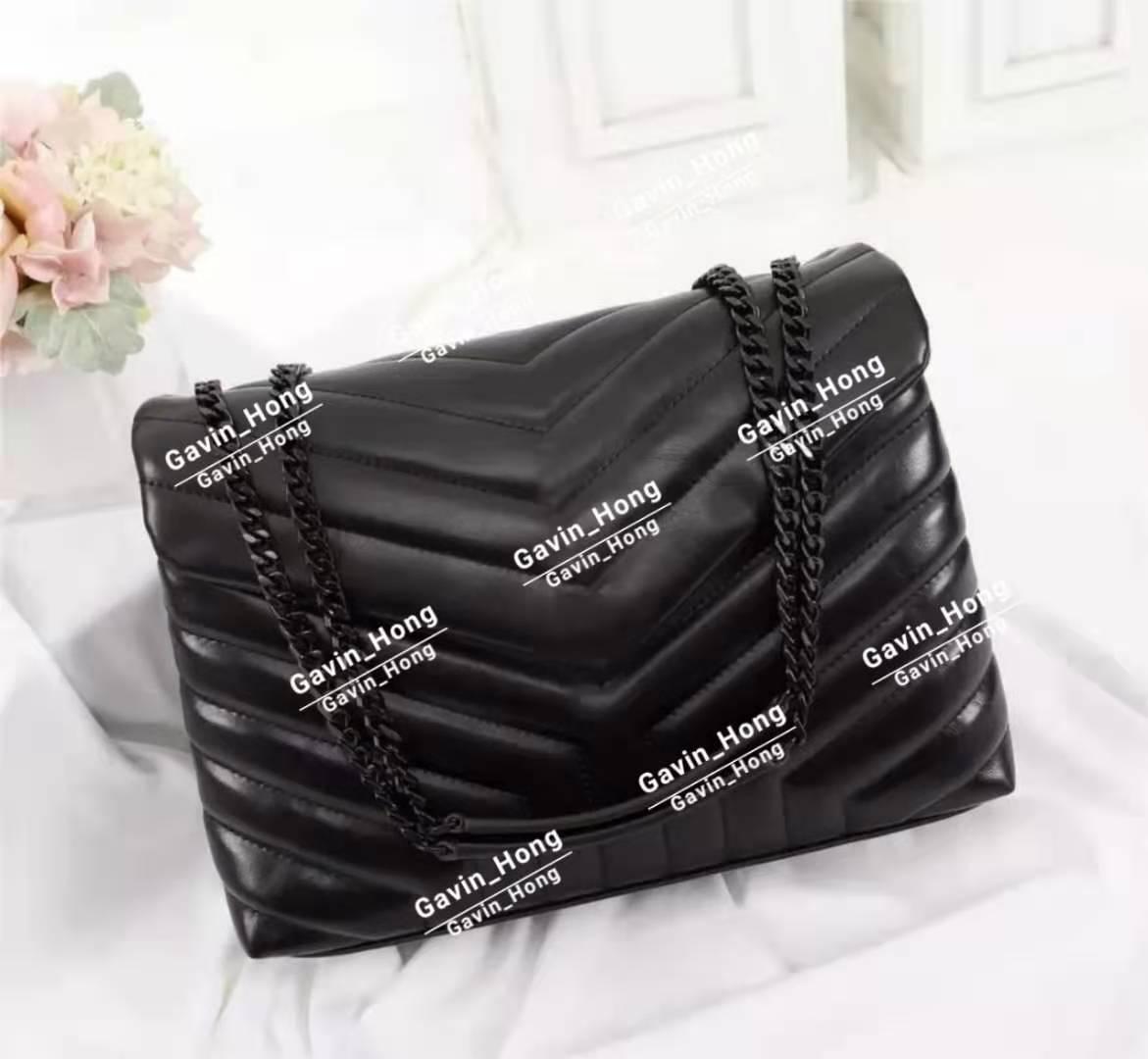 Farbe gesteppt Brief Schulter Handtaschen echte Mehrere High Bags Tasche Designer Tasche Frauen Qualität Flap Kette Schulter Leder geformt Rovcj