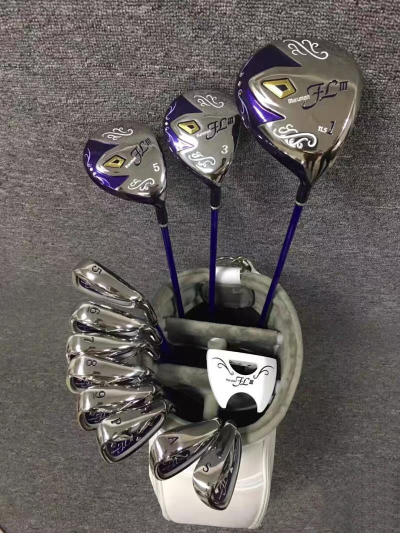 Schneller Versand komplett Set Frauen Damen Golf Maruman FL III Golf Clubs Fahrer Woods + Irons + Putter