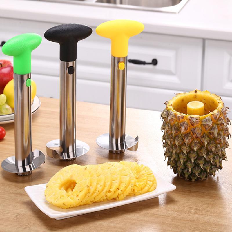 الفولاذ المقاوم للصدأ الأناناس مقشرة سهلة الاستخدام الملحقات الأناناس القطائح الفاكهة سكين القاطع كورنر القطاعة أدوات المطبخ 1PCS 201120