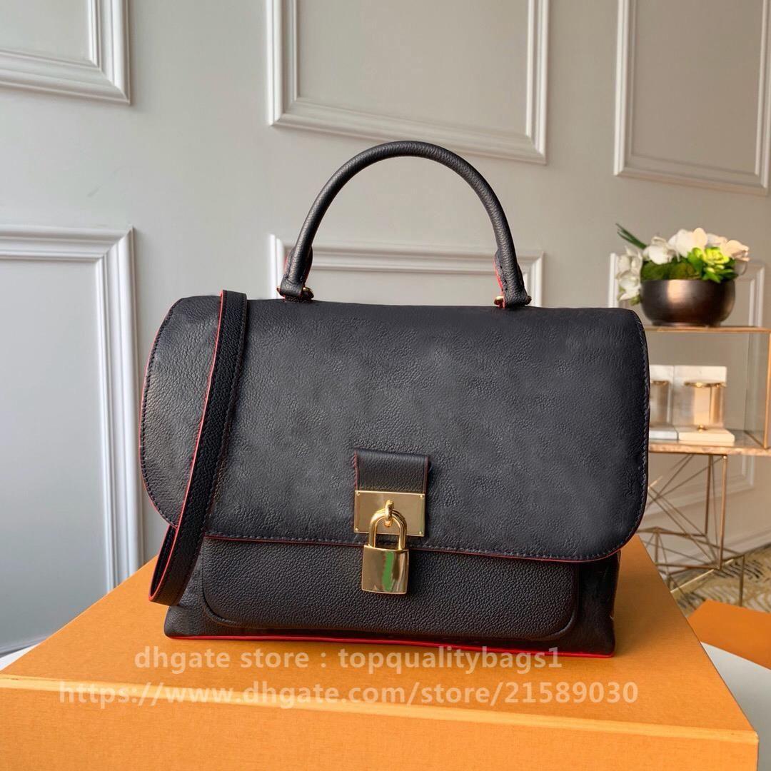 2020 neue freie obere tasche designer luxurys qualität mode echte tasche 29 cm handtasche frauen schickungsbuchstabe leder schultermode classic opmoh