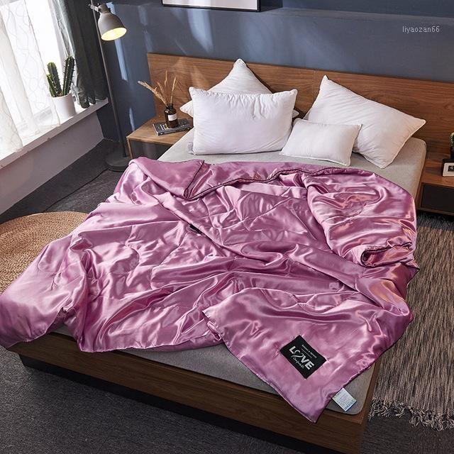 Komfortable 100% Seide Bettdecke Decke Quilt Bettwäsche Waschbare Eis Seide Sommer Klimaanlage Trinke Quiltdecke1