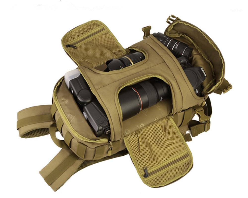 Сумки на открытом воздухе нейлоновые водонепроницаемые мужчины спортивные туристые взбираясь двойное плечо 35L тактическое прочное путешествие рюкзак рюкзак1
