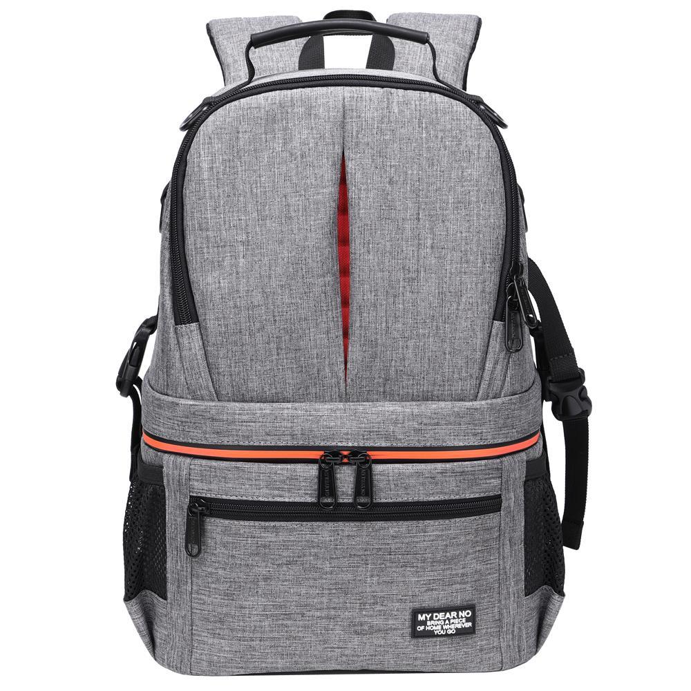 Waterproof Camera DSLR Shoulders Backpack w Reflective Stripe Video Tripod Carry Case Men Women Photography Outdoor Travel Bags Q1222