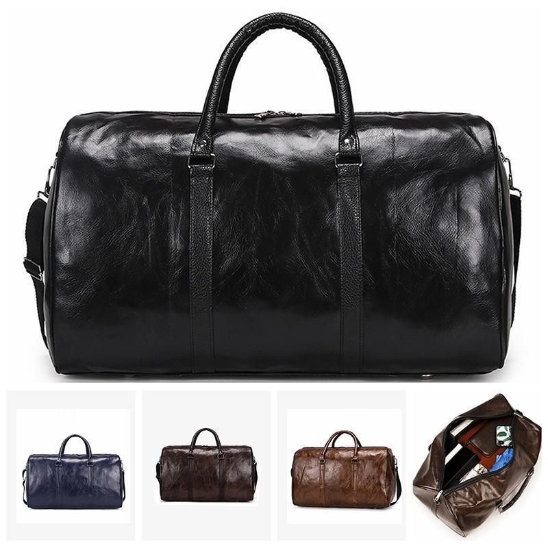 Handbag Pu Fashion Large Duffle Leather Big Black Bags Travel Zipper Luggage Shoulder Fitness Independent Bag Bag Men Dohri
