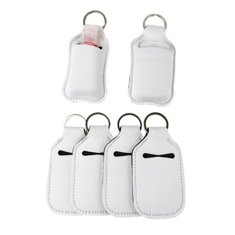 30 ml Süblimasyon Boş Neopren Parfüm Şişesi Tutucu SBR Boş El Dezenfektanı Şişe Seti Beyaz Parfüm Şişe Tutucu Anahtarlık Hediye