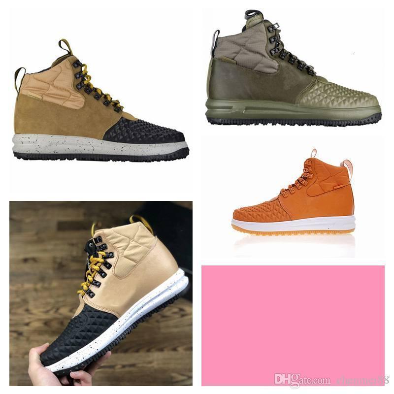 Authentic LF1 Fashion Duckboot Duckboot Hight Top stivali in pelle impermeabile sneakers da uomo scarpe da uomo scarpe SE Spedizione