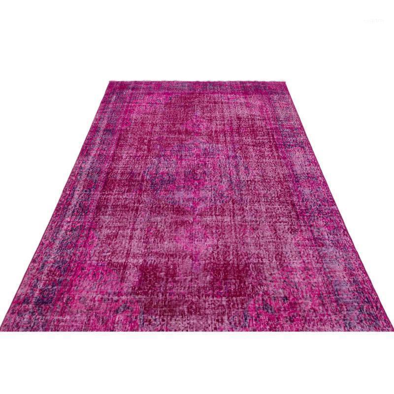 1909-Único-perfeito Turco Design Floral Tradicional Real Tapete de lã artesanal, Área Eléctrica Rug Setroom Quarto Tapete de Cozinha, 1