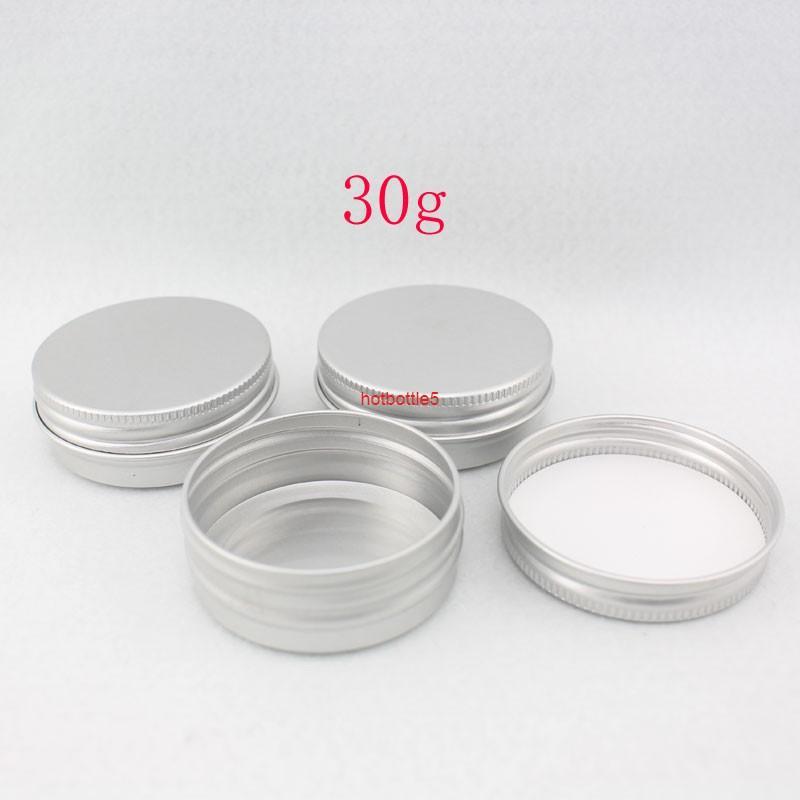 50pcs 30g / ml potage en aluminium vide rechargeable bouteille cosmétique pommade crème échantillon emballage emballage conteneurs Visser la qualité du capbon