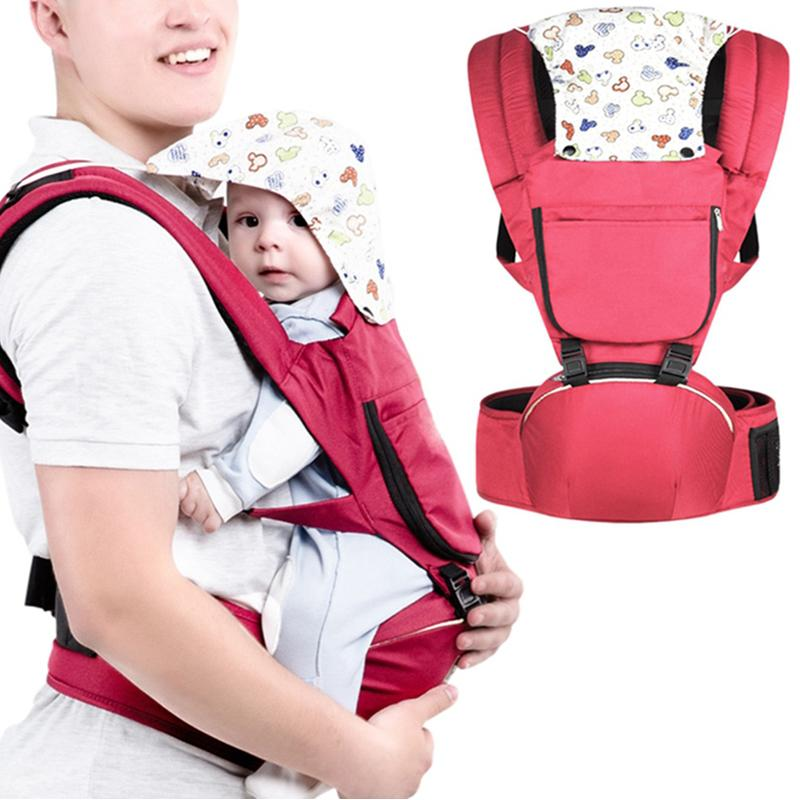 2020 New All-in-One Baby Carrier Lumbar Hold Shoulder Safety Back Baby Bench Oblique Seat Breathable Infant Non-slip Bench Mesh J1215