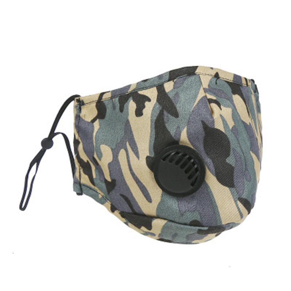 Accesorios Máscara de moda ER Boca a prueba de polvo PM2.5 Face Anti-L Lavable Reutilizable Hielo Algodón SNT2 11U02Q