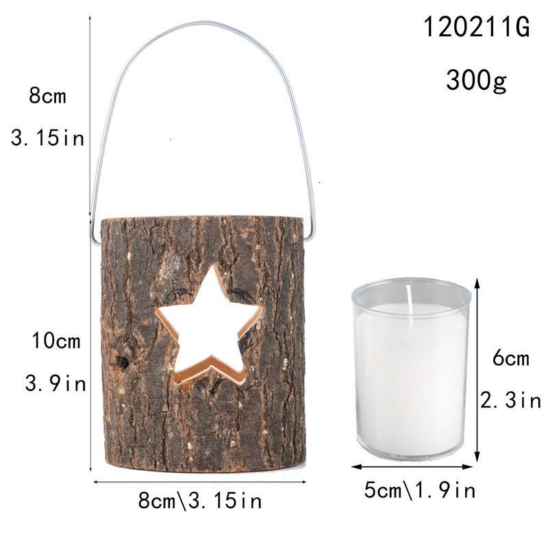 Copo de nieve Hollow Tree Heart Star Star Tealight Candlestick Año Nuevo San Valentín Día de San Valentín Decoración