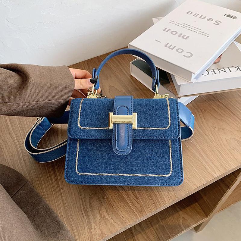 Crossbody Fashion New Jeans Bags Women Bags Shoulder Denim Luxury Women's Fashion Designer Small Messenger 2021 Handbags Kluvb