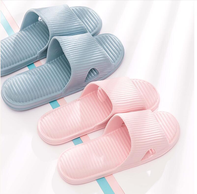Mode breite flache rutschige mit dickem sandalen Slipper Flip Flops echtes Leder