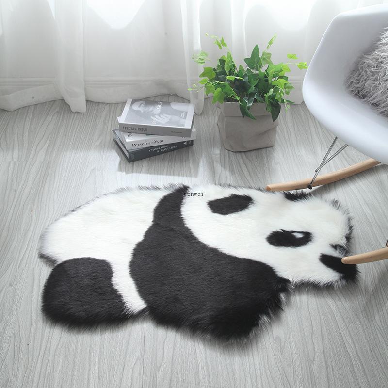 60x90cm шерстяная панда коала коврик для животных коврик коврик коврик для матраса ковер гостиная спальня диван подушка искусственный пушистый коврик