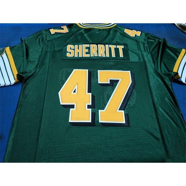 Benutzerdefinierte 604 Jugendfrauen Vintage Edmonton Eskimos # 47 J.C. Sherritt Football Jersey Größe S-4XL oder benutzerdefinierte Jedes Name oder Nummer Jersey