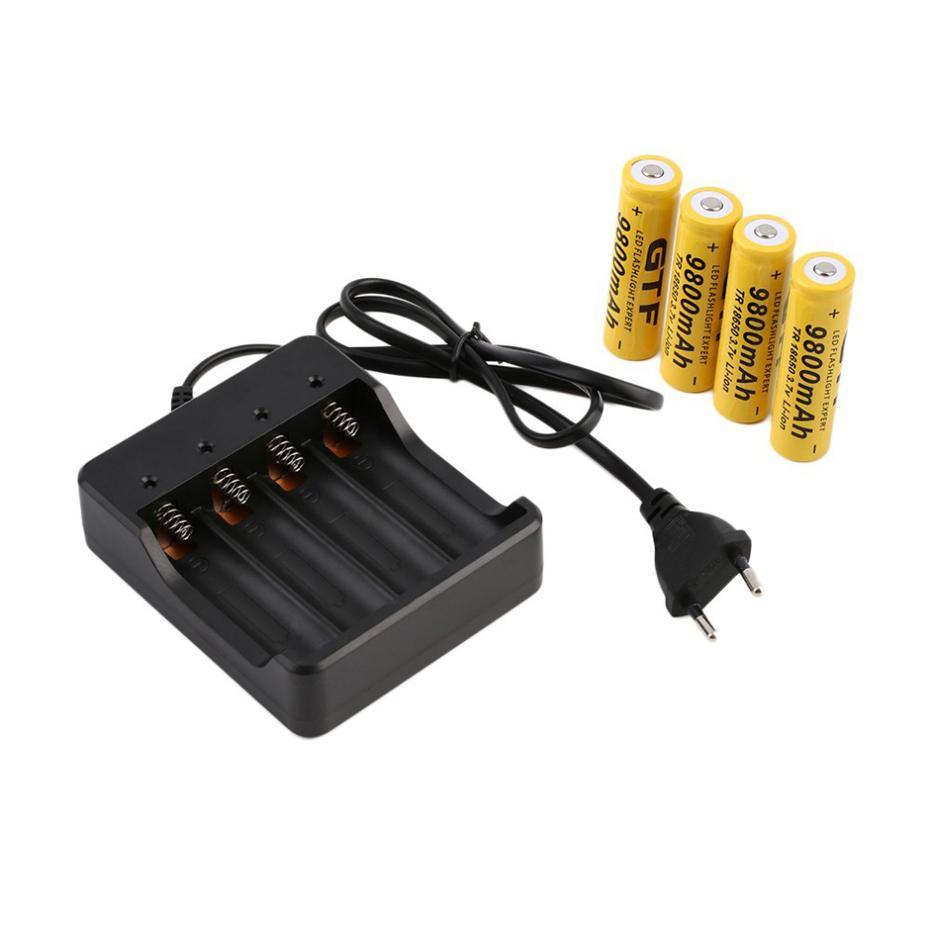 18650 Carregador de bateria 4 Slots AC 110V 220V 4.2V Smart Quatro carregando para lanterna recarregável de li-ion lanterna