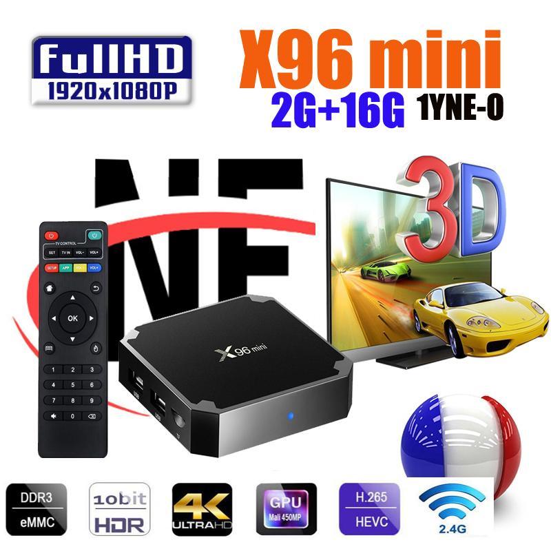 X96 مصغرة الروبوت صندوق التلفزيون 1G8G 2.4G WIFI 4K HD الذكية التلفزيون مشغل الوسائط X96MINI PK H96 MAX MXQ Pro