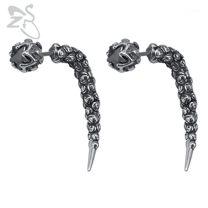 Goth zs style gothique boucles d'oreilles de style gothique faux bouchons en acier inoxydable homme bijoux 1 paire punk boucle d'oreille rouleau de roche bijoux1