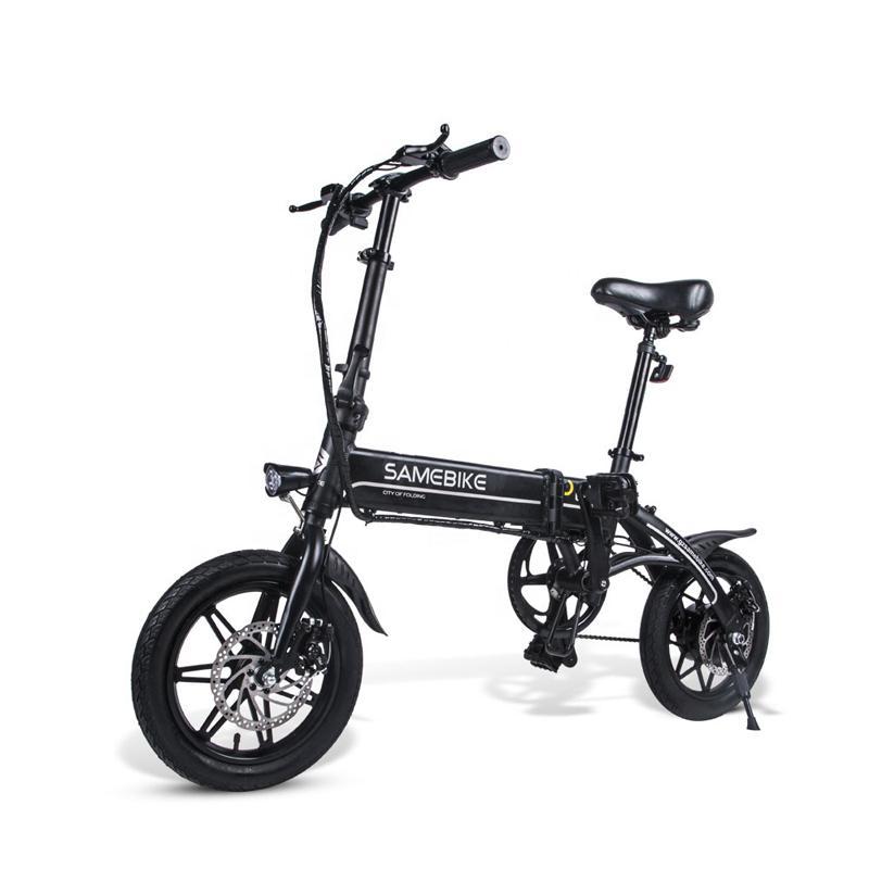 """Akıllı Katlanır Bisiklet Moped Elektrikli Bisiklet E-Bike 14 """"Alüminyum Alaşım Çerçeve Dağ Yol Bisikleti Katlanabilir Elektrikli Bisiklet"""