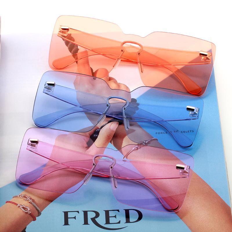 damas gafas de sol 2020 productos de tendencia naranja pueple amarillo rectángulo grande gafas de sol festival feminino feminino