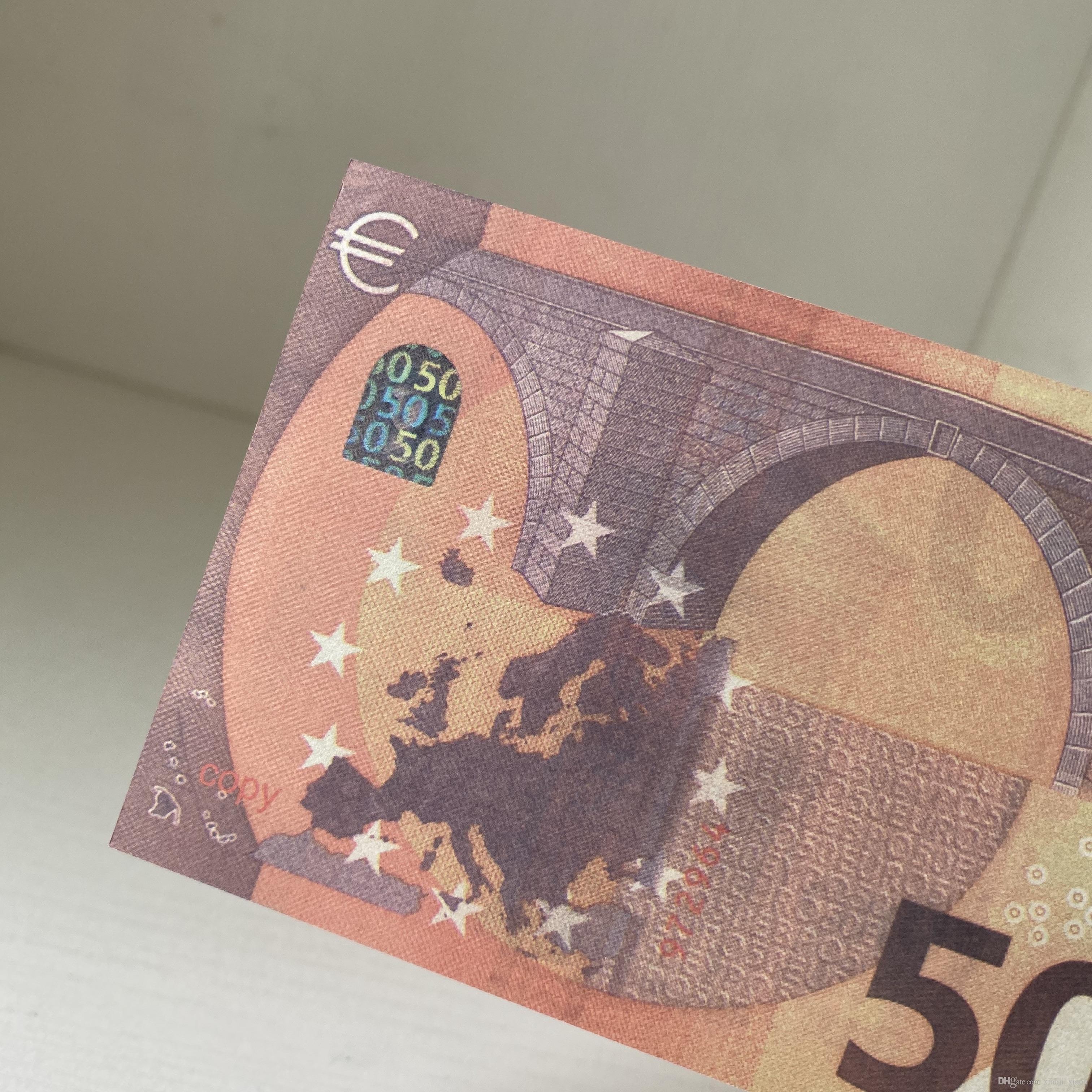 Fernseher spielzeug 50 Euro gefälschte Geld Bar Münze Token und heißer Shooting Banknote Practice Film Simulation Spiel Requisiten HXHEN