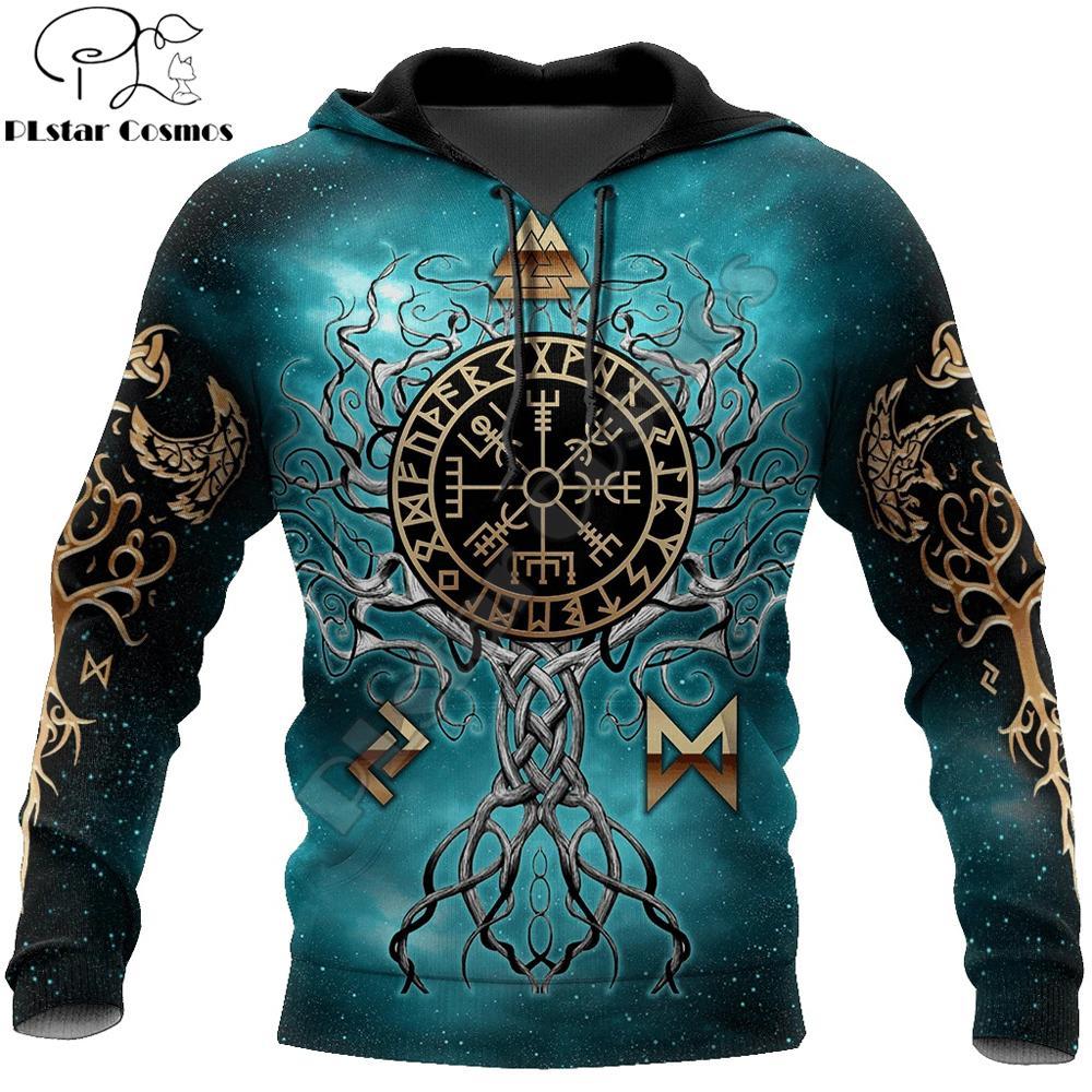 YGGDRASIL - Norse Tree of Life Symbole Viking 3D Hoode imprimé Harajuku Streetwear Pullowover Unisexe Casual Veste Tracksuit 201128