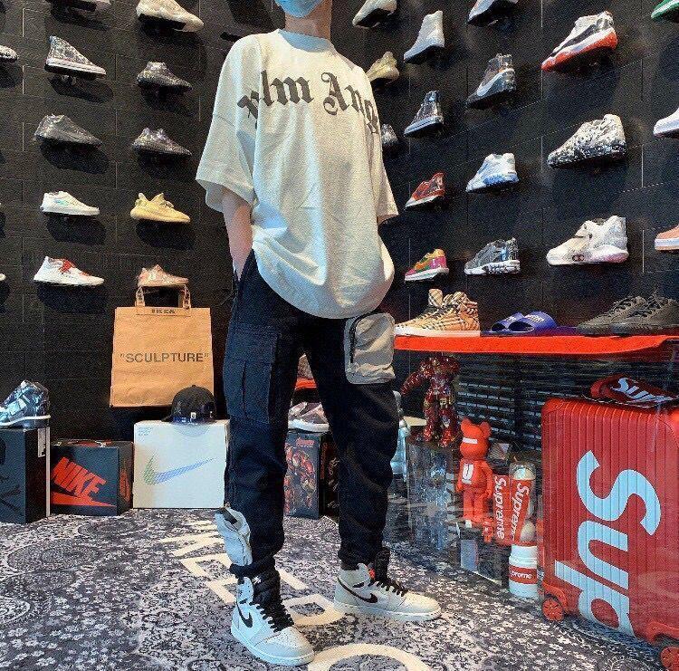 Travis Scott TS Multi Pocket Work Vestiti da lavoro CO Branded Casual Sports Lovers Pantaloni allentati Nero
