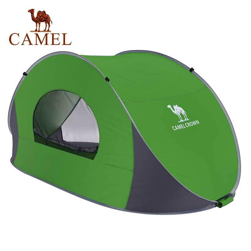 Kamel 1-2 Personen Doppelschicht Automatisches Zelt im Freien Wandern Camping Zelt Frühling Sommer Strand Leichte Zelt Z1123