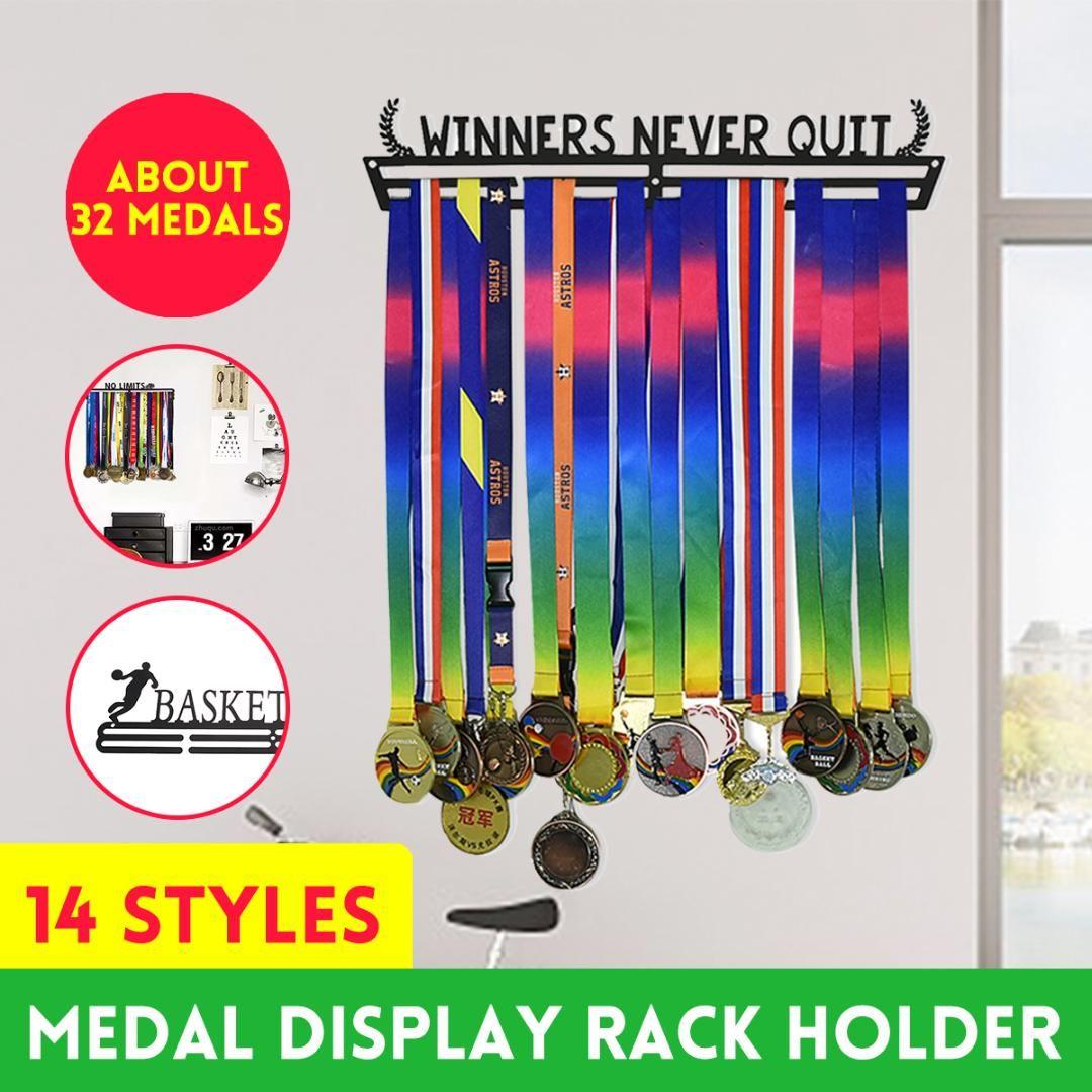 16 Stil Multi-Stil-Medaillen-Hang-Halter-Rack-Aufhänger-Halterung-Wandhaken Eisen Triathlon Laufende Sport Herausforderung Home